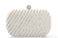 Two Chains Women Pearl Evening Bag Clutch Gorgeous Bridal Wedding Party Bag H 04Free Shipping