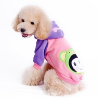 Newest Pet Clothing Dog puppy Cotton Winter Coat Cotton Pet Hooded Puppy Outfit  FREE SHIPPING