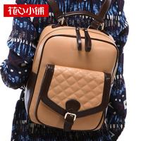 2013 preppy style plaid bag  color block  handbag female bags