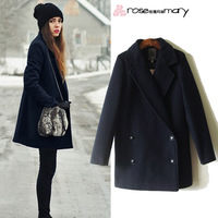 Autumn fashion ol woolen outerwear slim overcoat trench women dresses 2013 new fashion free shipping