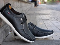 Breathable male leisure daily business leather shoes, leather fashion. Free shipping