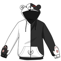Free shipping Super Dangan Ronpa   Bat sleeve hoodie sweater  monokuma   Coat of fleece