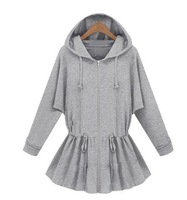 3 2013 fashion winter casual outerwear women's zipper with a hood fashion sports sweatshirt 9113