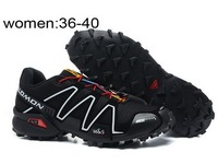 Drop Shipping 2013 NEW Arrival Salomon Sport Shoes Running athletic shoes for women brand big Size:36-46 hot selling