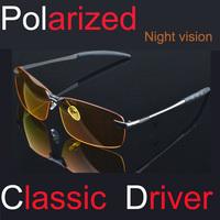 Aluminum Magnesium Alloy Polarized Sunglasses Driver Mirror Night version Sunglasses Men Oculos De Sol 3043