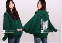 Free shipping  Attack on Titan  Bat sleeve hoodie sweater  Wings of liberty   Coat of fleece