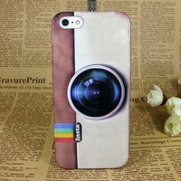2013 Hot New Cartoon camera Hard Back Cover Case for iPhone 5 5G 5S Free shipping  BH0082