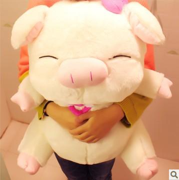 Double 11 big Large three cis-pig cute pillow pig doll plush doll pig doll(China (Mainland))