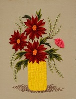 Ribbon embroidery paintings kit flower at home decoration