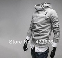 High collar coat 2013 arrival top brand men's jackets,men's dust coat,men's hoodies N0005