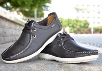 The new autumn han edition men and recreational leather shoes real leather shoes. Free shipping