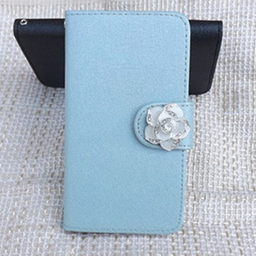 Hot Sale Ice Silk Skin Design PU Leather Bling camellia Case with card holder For Samsung GALAXY S4 Active I9295 Freeshipping(China (Mainland))
