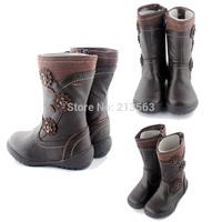Big Sale ! Girl's Kids Girl Winter Flat Zipper Child Kid Cute Boot Boots Shoes Children Flower Size 2-13