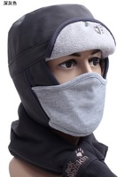 High Quality Outdoor Brand Men Winter Wool Bomber Hats Women Face Ear Protection Thick Warm Cap With Mask Freeship