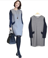 Autumn Winter Fashion New One-piece Dress For Maternity Women As Pregnant Gravida Clothing.Plus Size.Free Shipping