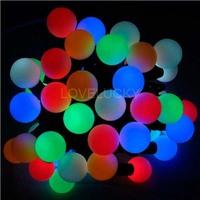 5M 50 Balls RGB LED String Lights Lighting Waterproof 110V/220V US/EU/AU/UK Plug CHRISTMAS,WEDDING,BEDROOM,Free shipping