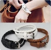 Cool!! Creative preparing bracelet leather bracelet Wholesale 100pcs/lot Y001