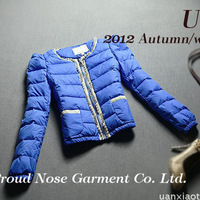 2013 winter fashion small ladies short design plus velvet thick fashion 11.11 down coat wadded jacket