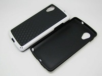 Free shipping wholesale 50pcs/lot 3D Wall Carbon fiber Soft TPU Case Black Back Cover Case For LG Nexus 5,new arrival