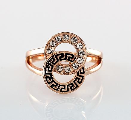crystal rings gold simple heart shape rings romantic