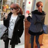 2013 medium-long wadded jacket reversible thickening slim waist with a hood cotton-padded jacket female