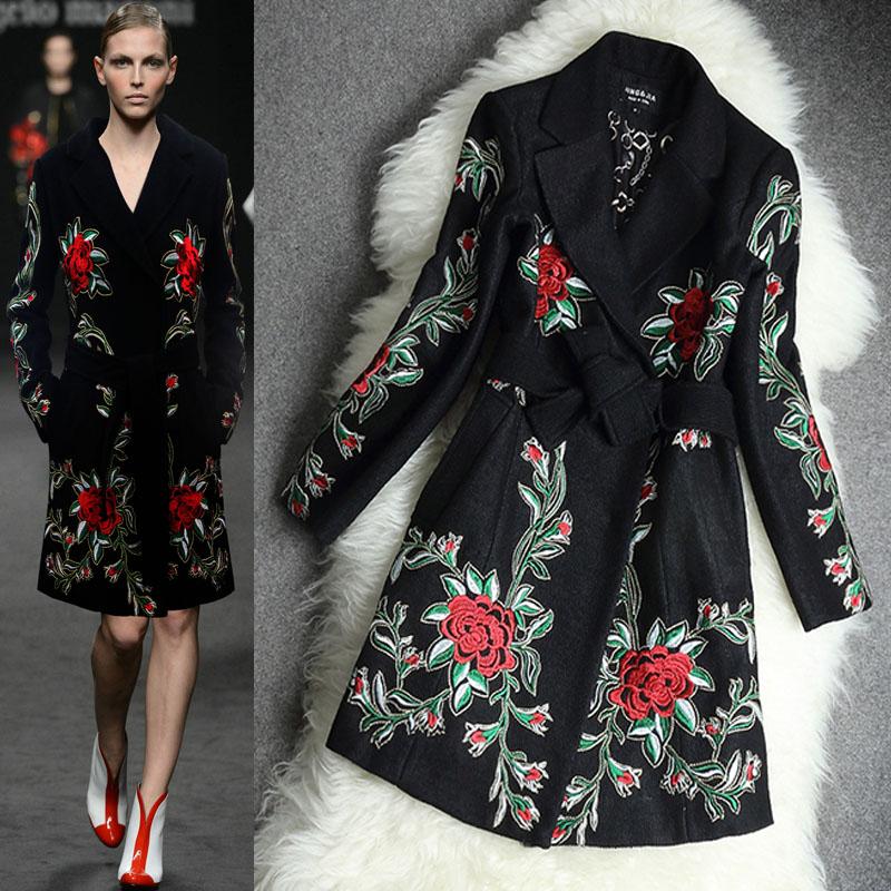 Женские пальто с вышивкой 68