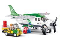 FREE SHIPPING 251pcs construction eductional Bricks Building Blocks Sets Small transport aviation world aircraft children toys