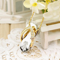 Free Shipping Wholesale Merry christmas cristal shoes model 4GB 8GB 16GB 32GB 2.0 Memory Stick USB Flash Drive UP2085