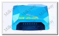 Factory sell bright sky blue color 36W CCFL+ LED  diamond design nail lamp led gel nail polish dryer lamp with CE certificated