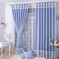 Positive Brand house Curtain Quality rustic eco-friendly thickening shade cloth anti-uv living room curtain finished product