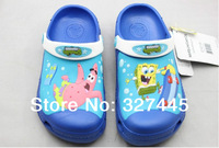free shipping wholesale 2013 SpongeBob Squarepants children sandals clogs garden shoes for boy size c6-j3