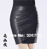 Free Shipping !2013 New  Women  Leather Skirts Fashion Slim Plus Size 6XL Ladies Short Skirts  001