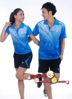 wholesale 2013 new badminton clothing for male and female quick-drying couple sportswear