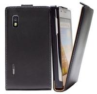 For LG Optimus L5 E610 E612 E615 Phone Flip Leather Case Magnetic Closure Pouch Wallet Cover