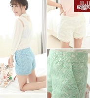 Fashion women short Crochet lace shorts female waist hot shorts wavy edge