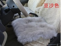 Sheepskin Car Seat Cover 3pcs Auto Cushion for Winter Gray Color Auto Cushion