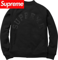 2013 supreme streetwear brand embroidery logo men's long sleeve  Outerwear hoodies Baseball jacket Sweatshirts cotton-padded