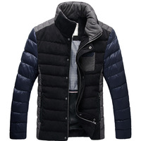 2013 down coat fashion slim outerwear short design male short design down coat