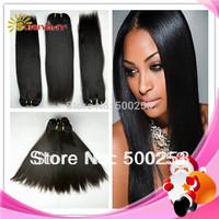 "Wholesale AAAAAA grade silk straight virgin malaysian human hair weaving unprocessed hair extension hair bounlds 10""-30""in stock"