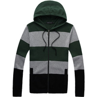 2013 spring and autumn male 100% hooded cotton sweater long-sleeve sweater outerwear male