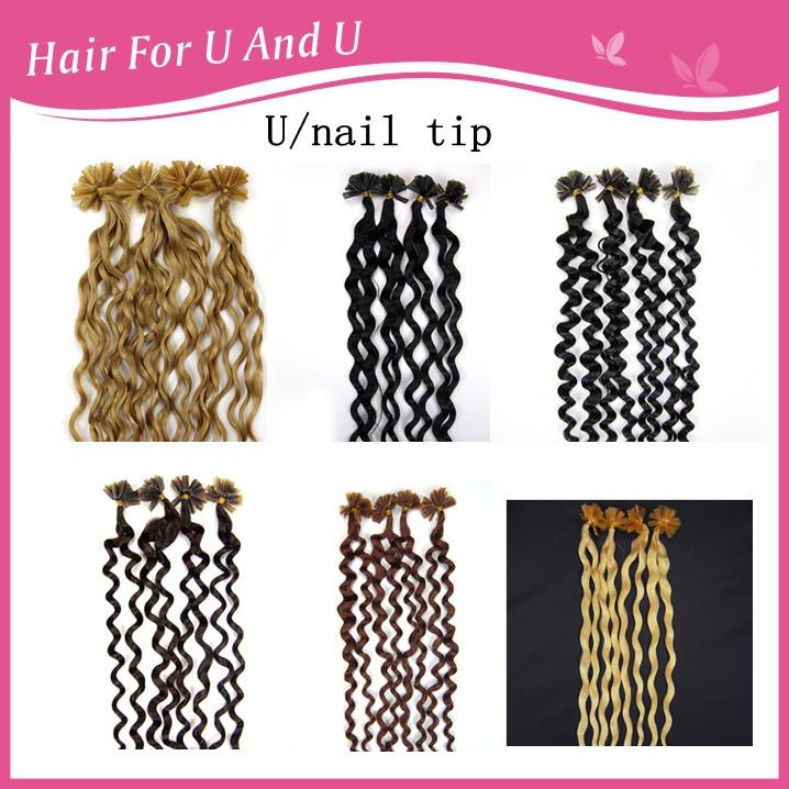 Nail Tip Hair Extensions Cheap 58