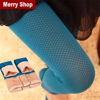 Free shipping 2014 New Fashion Winter Women Leggings Plus Velvet Thickening Double Winter Leggings Mesh Fake Meat Leggings
