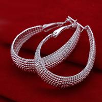 Hot Sexy Women Earring 925 Silver Hoop Earrings Round For Women Brincos Fashion 2014