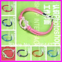 10 pcs Wholesale Enamel Tone Crystal Rhinestone hello kitty bracelet,Girls Ladies leather hello kitty Friendship bracelet