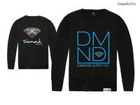 Men's Sweatshirts /Thin O-Neck Long sleeve /Supply 21 Styles Diamond Graphic Black /Cool Autumn Summer Clothing