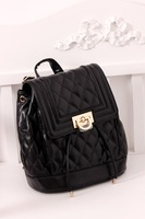 Fashion women's handbag 2013 women's fashion handbag school bag diamond plaid drawstring backpack