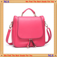 2013 Women's Fashion Designer Handbags College Wind Handbag Backpack Messenger Bag Versatile Leather Bag Free Shipping