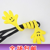 wholesale  cable winder management-ray device cartoon cable winder tie-line hot sale free shipping