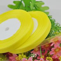 """100Y 3/8"""" Sheer Organza Ribbon Craft/Wedding/sewing Beige Color  RA121"""