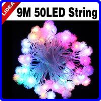 9M 110V/220V 50 LED Snowflake Christmas XMAS Tree Fairy String Outdoor Light CN C-06